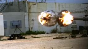 گلوله ی 155 میلیمتری توپ از نگاه دروبین مخصوص سرعت بالا!!!