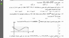 پاسخ سوال 101 کنکور ریاضی خارج 95 درس ریاضی