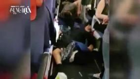 مصدومیت شدید مسافران هواپیما در برخورد با چاله هوایی