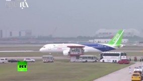 پرواز هواپیمای مسافربری C919 چین در فرودگاه بینالمللی پودونگ