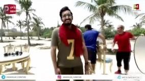عکاسی فشن خانم بازیگر و آقای مجری لب ساحل دریای کیش