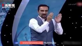 خواستگاری علی صالح بازیگر طنز از پرستو صالحی در برنامه زنده