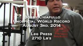 زدن 2710 پوند در حرکت پرس پا توسط Bobby Chiafullo