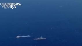 برخورد یک کشتی باربری با ناو جنگی از زوایای دیگر