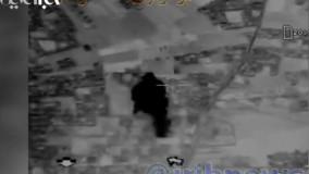 تصاویری از لحظه اصابت موشک های نقطه زن سپاه پاسداران به اهداف از پیش تعیین شده