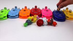 اسباب بازی برای آموزش رنگ ها و اعداد