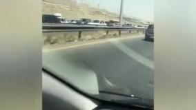 ترافیک سنگین اتوبان تهران کرج از پل حصارک تا گرم دره