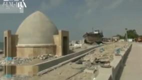 تخریب قسمتی از پروژه آکواریوم شهرداری بندرعباس
