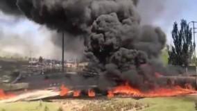 انفجار تانکر سوخت در میدان تبادل امام علی (ع) تبریز