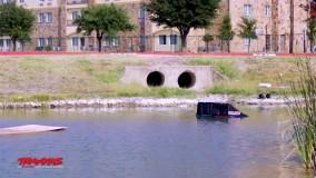 باور نکردنی حرکت ماشین بر روی آب