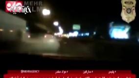 تعقیب و گریز واحد گشت پلیس آگاهی تهران با سارق خودرو