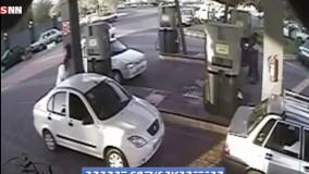 حادثه باور نکردنی در پمپ بنزین