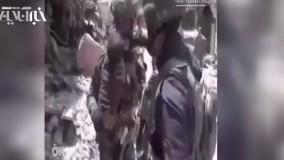 نجات کودکان توسط نیروهای ارتش عراق