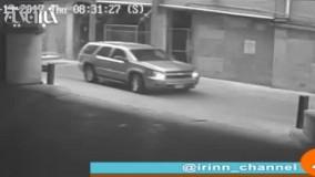 لحظه سقوط یک خودور از طبقه هفتم پارکینگ طبقاتی