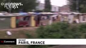 وضعیت ناگوار مهاجران در پیادهروهای پاریس