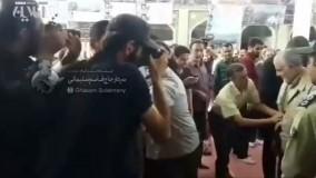 دیدار سردار سلیمانی با پدر شهید حججی