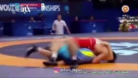 شروع طوفانی و شکست حریف حسن یزدانی در مسابقات کشتی آزاد قهرمانی جهان