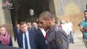 فیلم/ اذانی که رییس مجلس بلژیک در مسجد امام اصفهان شنید