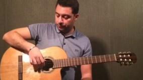 آموزش گیتار جلسه دوم - بخش ٢-آموزش تکنیک آپویاندو-آکورد   B7  سى ماژورهفت(seven)