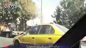 فیلم/ حرکت غیرعادی راننده تاکسی با یک زن / راننده بازداشت شد