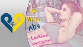4 دقیقه ورزش شکم برای خانم ها-دانلود فیلم فیتنس بانوان