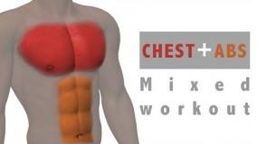 تمرین ورزشی ترکیبی شکم و سینه-فیلم اموزشی تناسب اندام