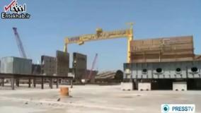 فیلم/ ساخت نفتکش افراماکس در یارد صدرا