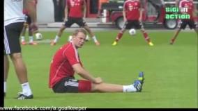 تمرین ها نویر دروازه بان آلمان