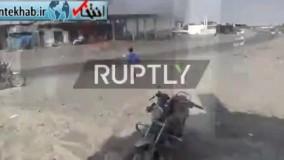 فیلم/ ۲۰ کشته در حمله جنگندههای سعودی به پمپ بنزینی در یمن