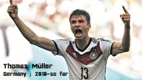 گل های توماس مولر برای تیم ملی آلمان