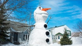 آموزش ساخت آدم برفی با برف