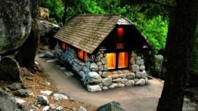کلبه سنگی سبک روستیک-ویلای روستایی