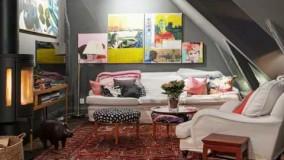 اتاق زیر شیروانی سبک اسکاندیناوی-چيدمان اتاق-دکوراسیون 2018
