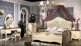 طراحی داخلی اتاق خواب سبک باشکوه فرانسوی