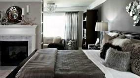 اتاق خوابهای زیبا با رنگ غالب خاکستری-عکس از اتاقخواب معمولی
