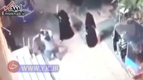 فیلم/ حمله عجیب سه زن نقابدار به مرد بی دفاع!