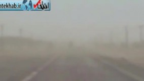 فیلم/ طوفان شن در ریگان و مسدود شدن راه ارتباطی ۵۰ روستا