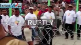 فیلم/ مبارزه مکزیکیها در جشن ملی کتککاری!
