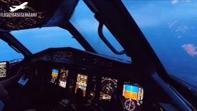 دانلود ویدیو فرود Turbulent Bad Weather Cockpit Landing - ATR 72-600