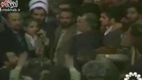 فیلم/ قرائت قرآن توسط محمد اصفهانی در محضر امام خمینی(ره) در فرودگاه مهرآباد