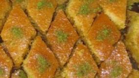 طرز تهیه کیک باقلوا خانگی خوشمزه