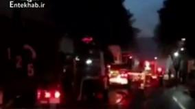 فیلم/ آتشسوزی کارگاه مبل ۲۰۰۰ متری در تهران