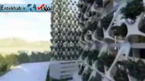 فیلم/ ساخت بزرگترين باغ عمودی خاورمیانه درشیراز