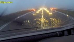 Antonov 225 Mriya COCKPIT front-view rain takeoff from Keflavik! [AirClips]