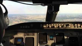 فرود هواپیمای در سن آنتونیو CRJ