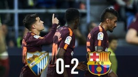 Malaga vs Barcelona 0-2 - All Goals & Extended Highlights