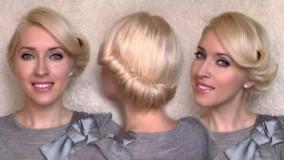 مدل شینیون برای موهای کوتاه-مدل مو دخترانه مجلسی ساده