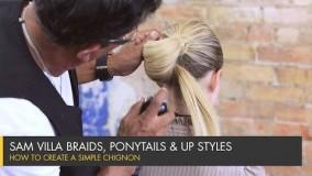 آموزش مرحله به مرحله شینیون موی کوتاه-شینیون مو کوتاه جدید