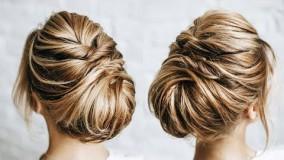 مدل شینیون برای موهای کوتاه-بافت موی کوتاه