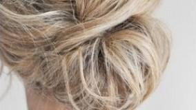 شینیون با موی کوتاه-مدل آرایش موی کوتاه